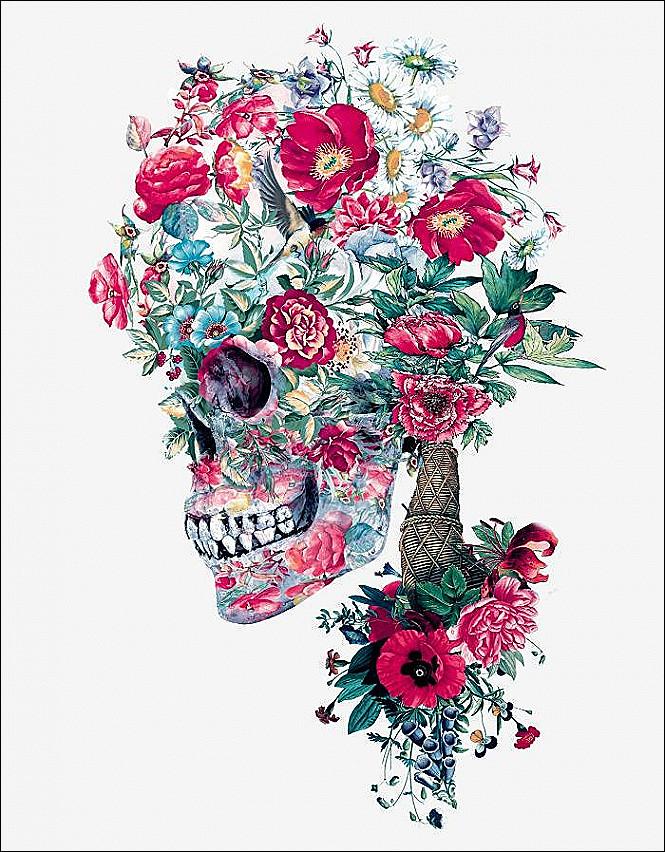 Calaveras Con Flores Tenemos Las Mejores Imagenes Arte De