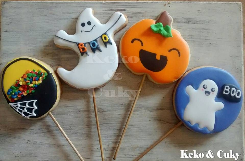 galletas tipo paleta para halloween