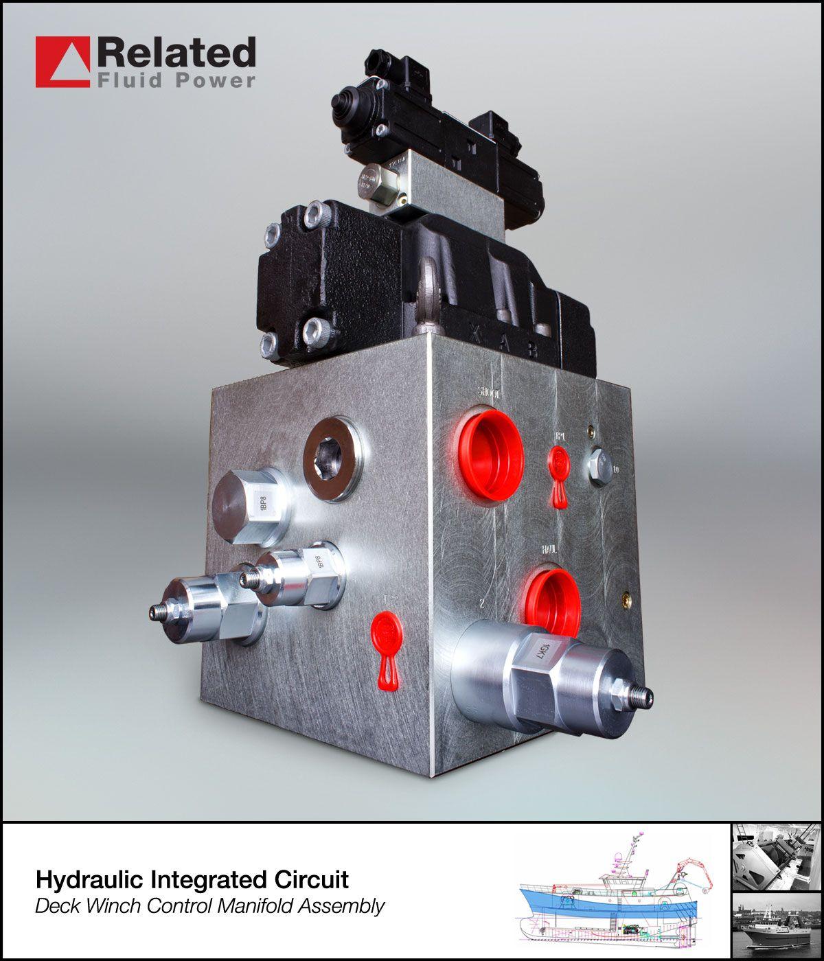 Custom Hydraulic Manifold Assembly Used To Control A Marine Deck Winch Hydraulic Systems Hydraulic System