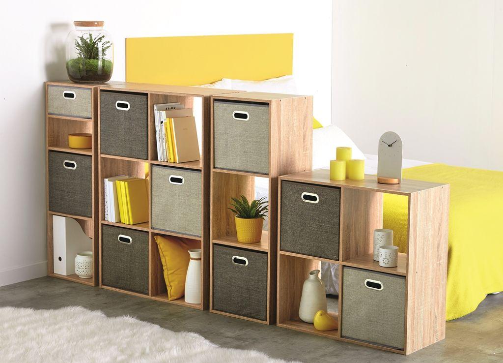 Des étagères avec paniers de rangement: idéales comme séparateur de pièce ! | Étagère avec ...
