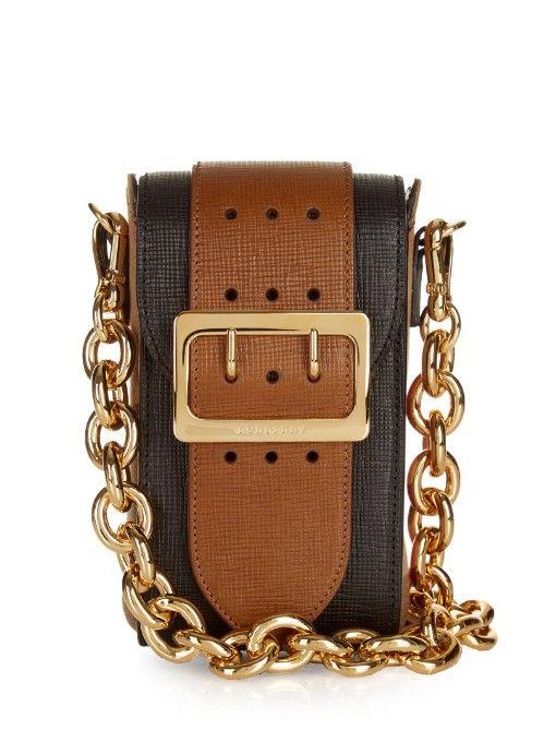 BURBERRY PRORSUM Oblong Belt Leather Cross-Body Bag. #burberryprorsum #bags #belt bags #suede #lining