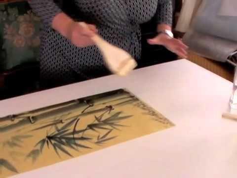 Marouflage A Sec Par Egle Tucci Techniques Peinture