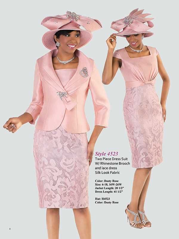 Dusty Rose Sizes 6-26W | Church Suits | Pinterest | Vestido elegante ...