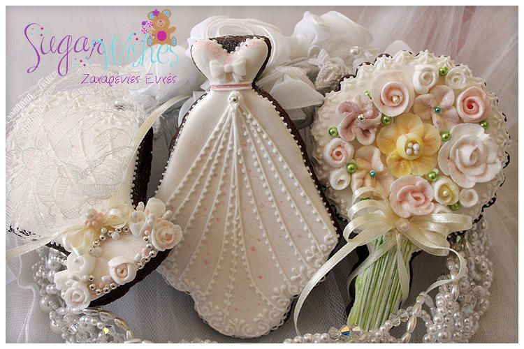 Wedding Gown, Headpiece and Bouquet | Cookie Connection | Cookies ...