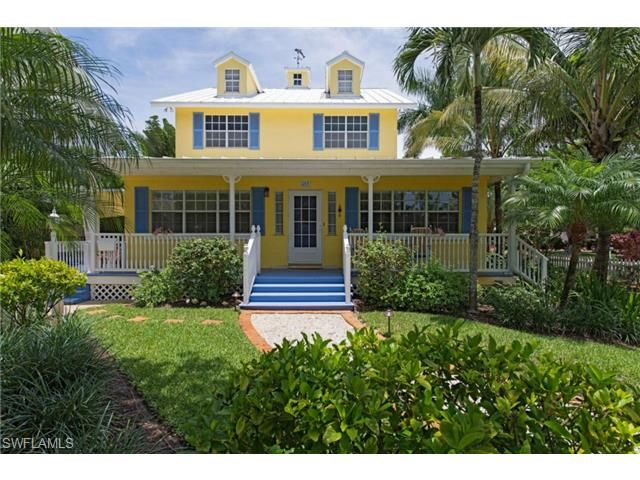 Yellow Beach House With Caribbean Blue Shutters 3rd Ave