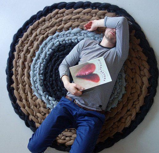 CHUNKY KNIT Teppich, häkeln Teppich, gestrickt Teppich Garn Teppich ...