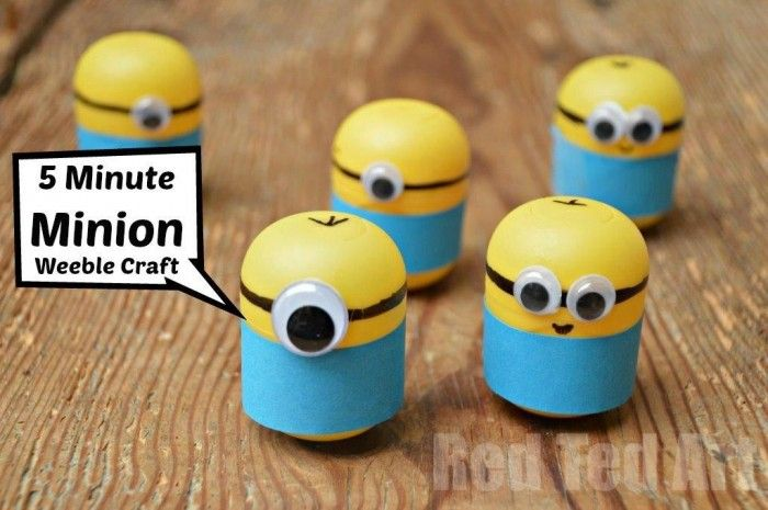 Minion Crafts Weebles Made From Kindersurprise Egg Capsules Kids