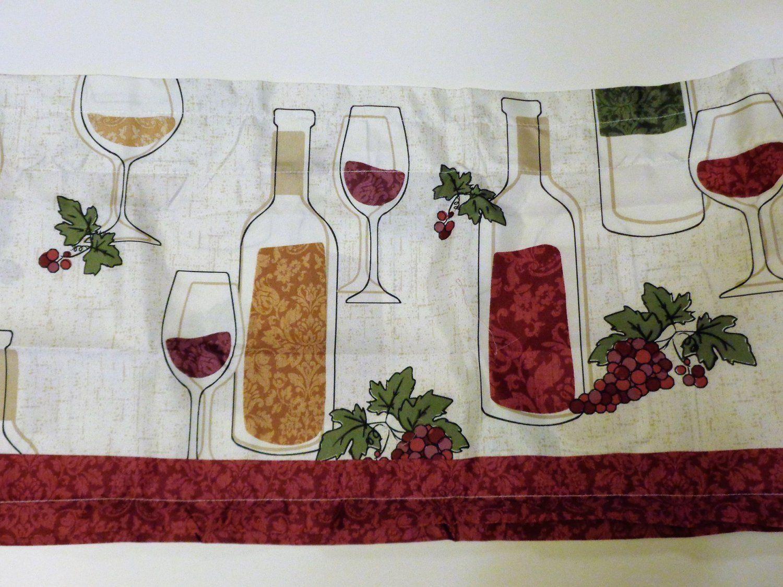 Wine Bottles Grapes Kitchen Curtains Set Tiers Valance Set 26 95 For 3 Piece Set Kitchen Curtains Tuscan Kitchen Kitchen Curtain Sets
