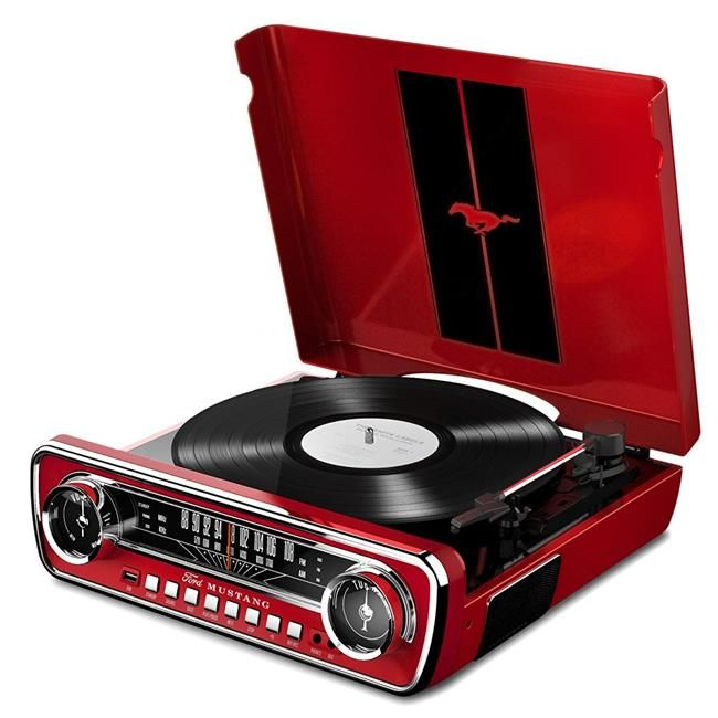 ION Audio ION-MUSTANG-LP-RED IT69 Classic Car Styled Music Center