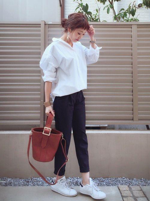 41b3e3e10e76 syk***|GUのシャツ・ブラウスを使ったコーディネート | ファッション ...