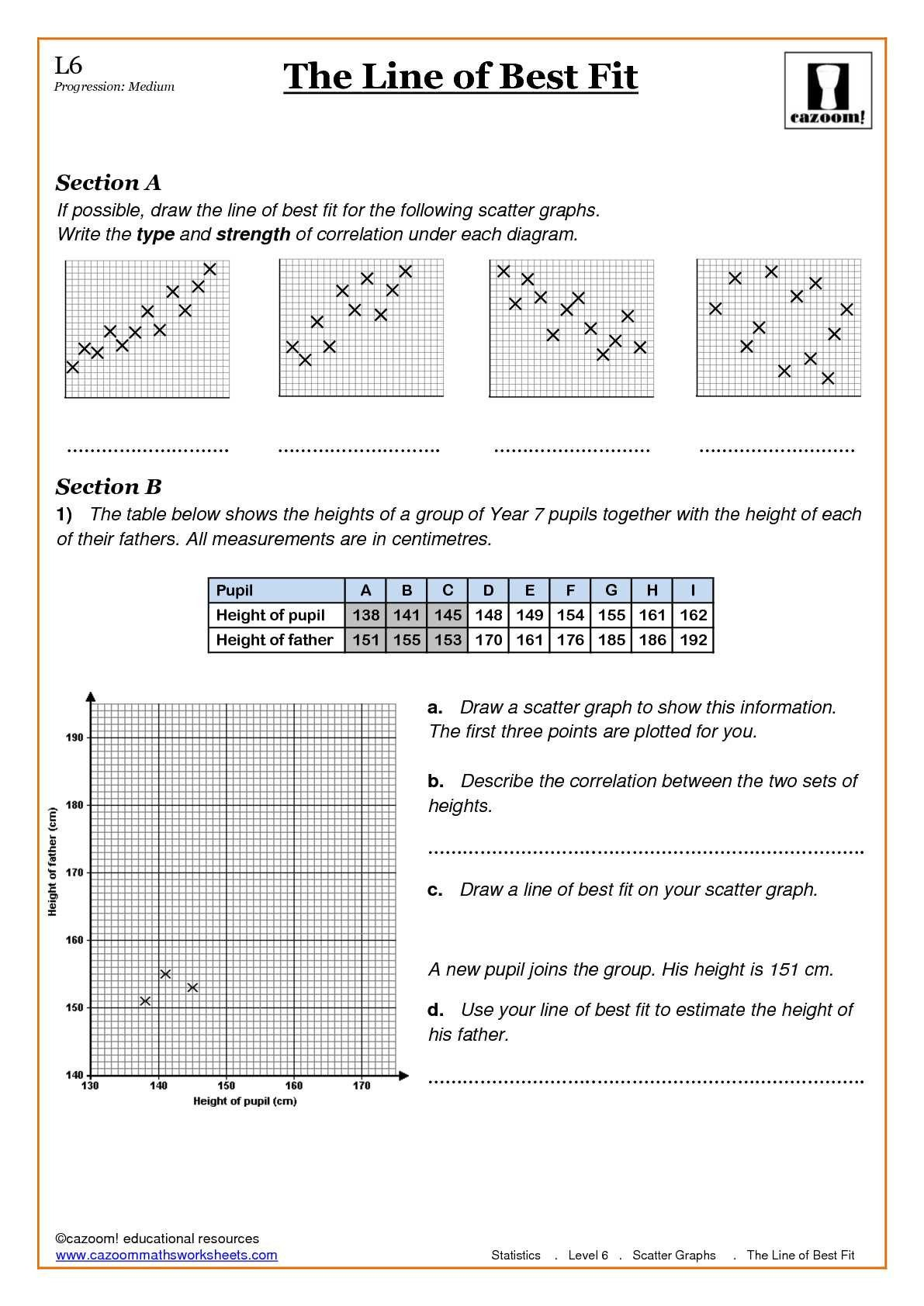 Inspirationalclassified Scatter Plot Worksheet With Answers