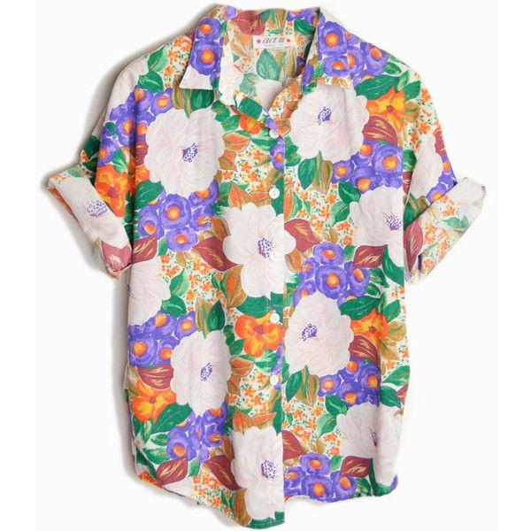 Sale Vintage 80s Purple Pansies Floral Print Shirt Women S Large Print Shirts Women Vintage Floral Shirt Vintage Shirts