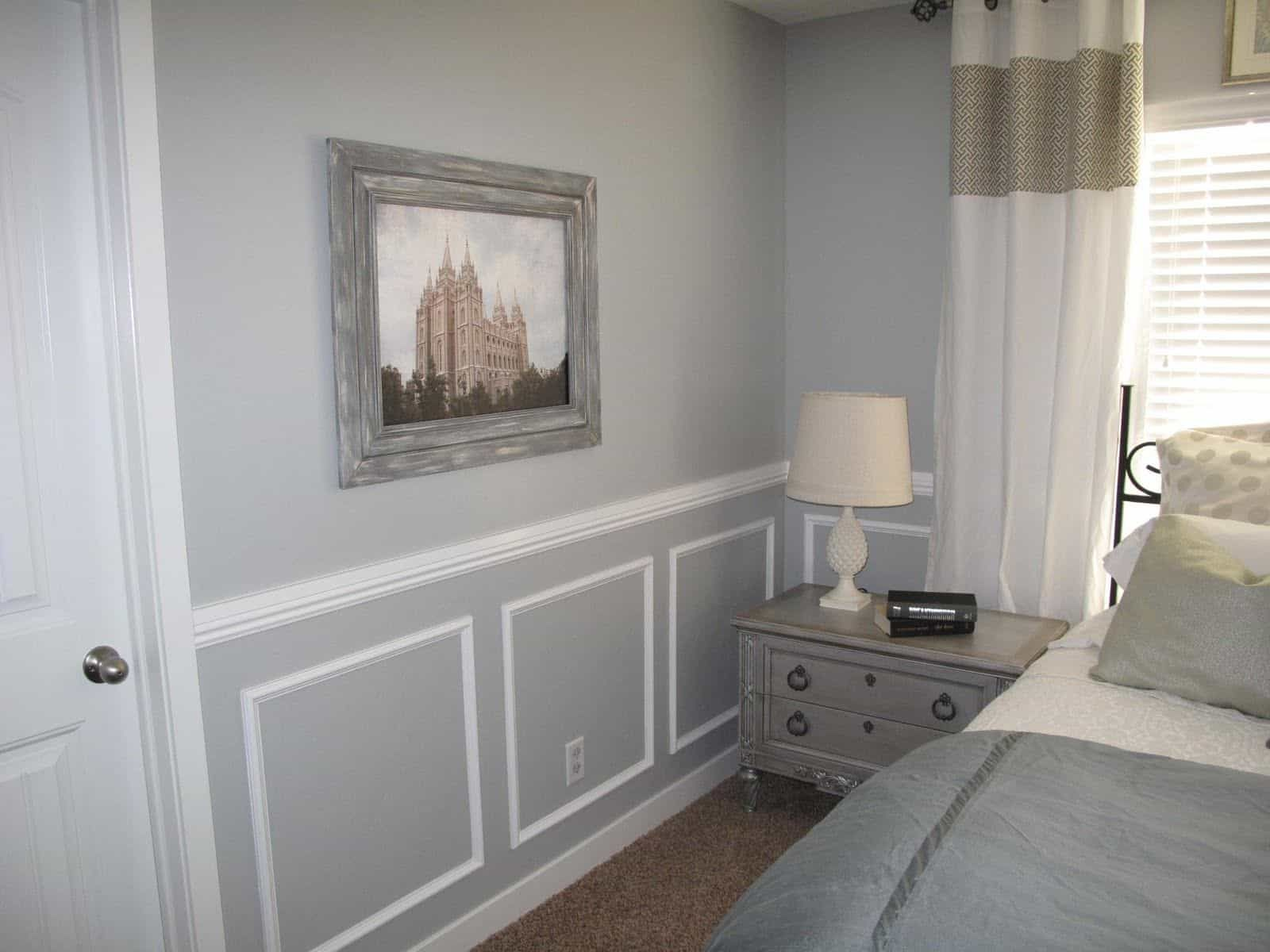 The Ideal Height Of A Chair Rail Bedroom Makeover Wainscoting Bedroom Master Bedroom Makeover