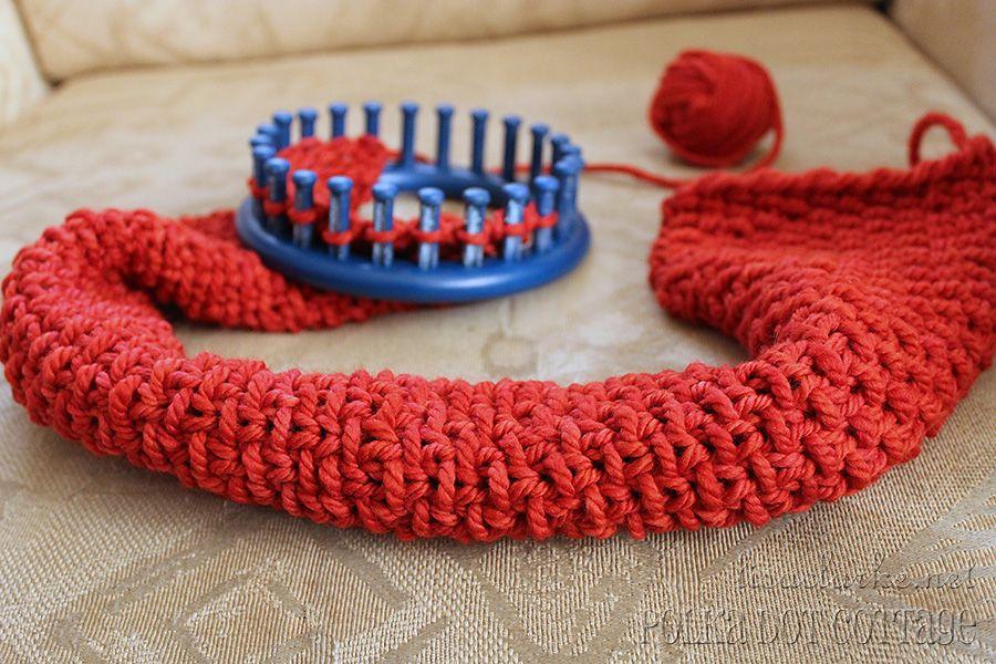 Luxurious Loom Knit Neckwarmer Loom Knitting Stitches Loom