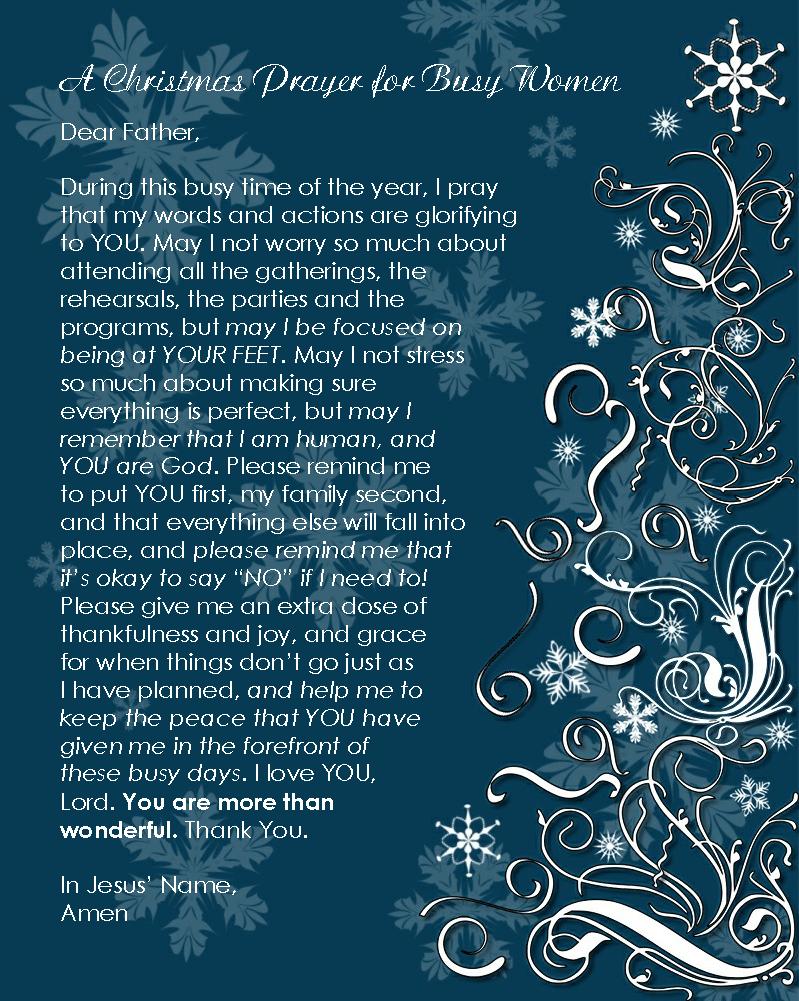 a christmas prayer free printable