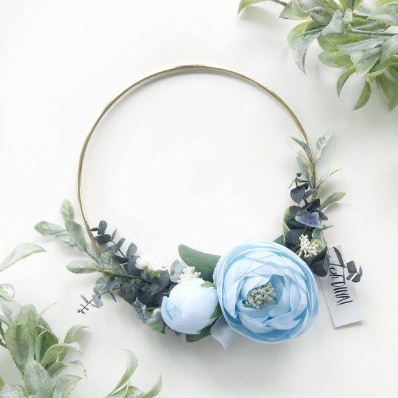 Photo of Blue tire wreath. Baby boy nursery decor. by Oh Dina! ®