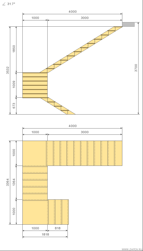 C lculo escada c 180 graus virar inspira es pinterest for Calculo escalera metalica