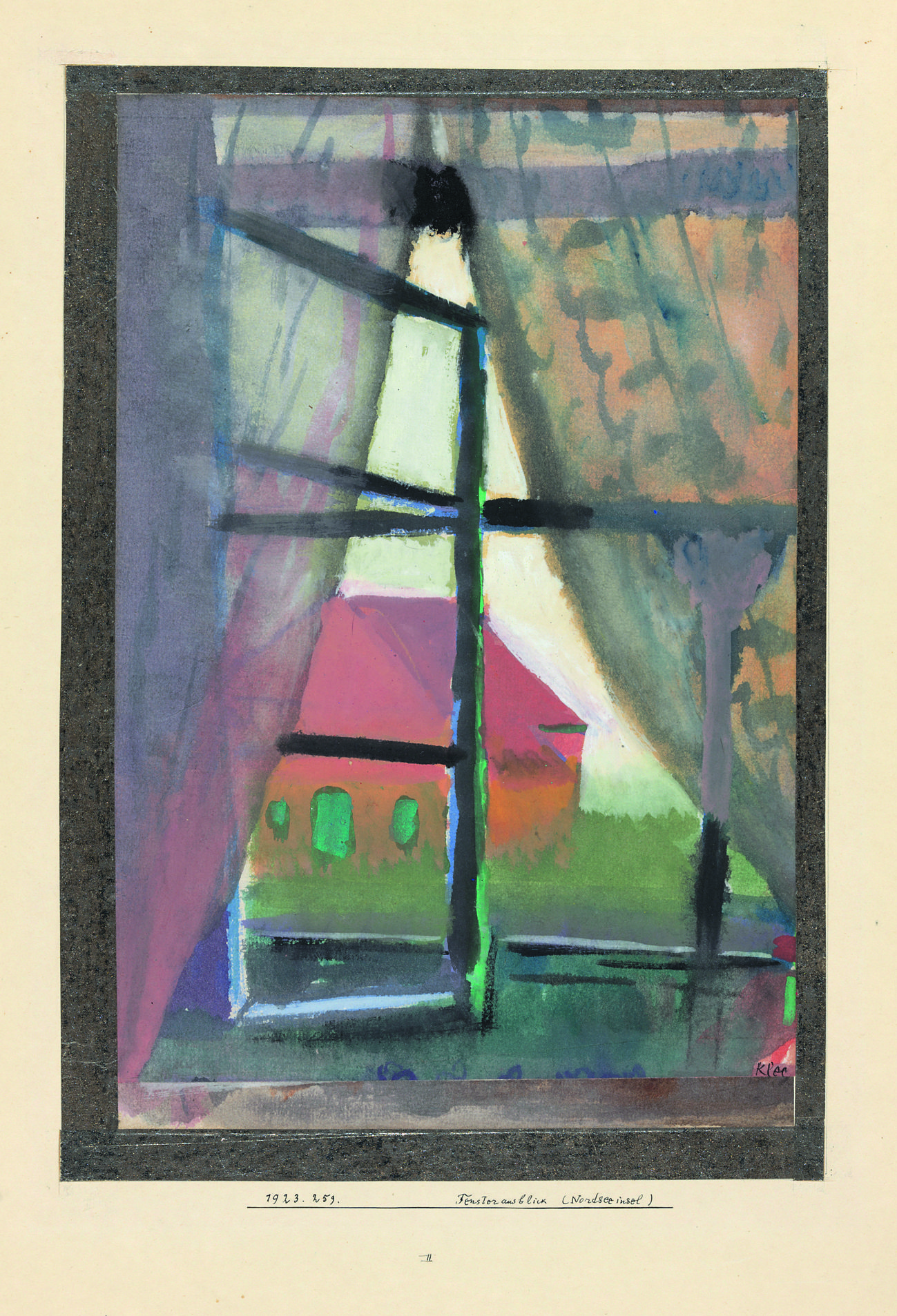 Fensterausblick Nordseeinsel Les Arts Paul Klee Inspiration Art