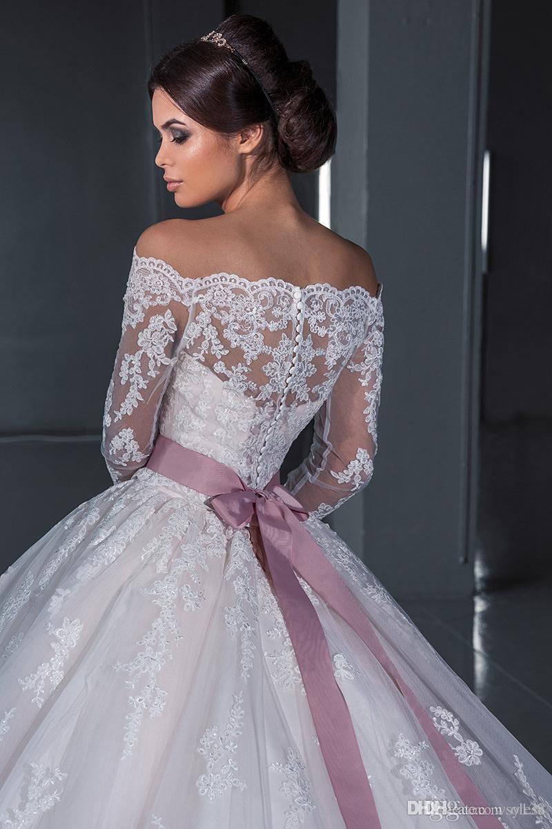 Luxuriöse Ballkleid Prinzessin Spitze Brautkleider 2016 New Off der ...