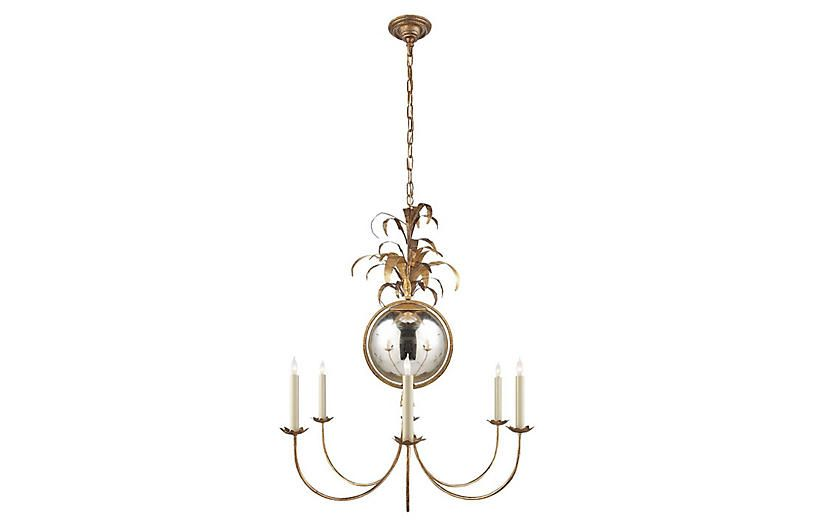 Gramercy Medium Chandelier Gilded Iron Visual Comfort Chandelier Iron Chandeliers