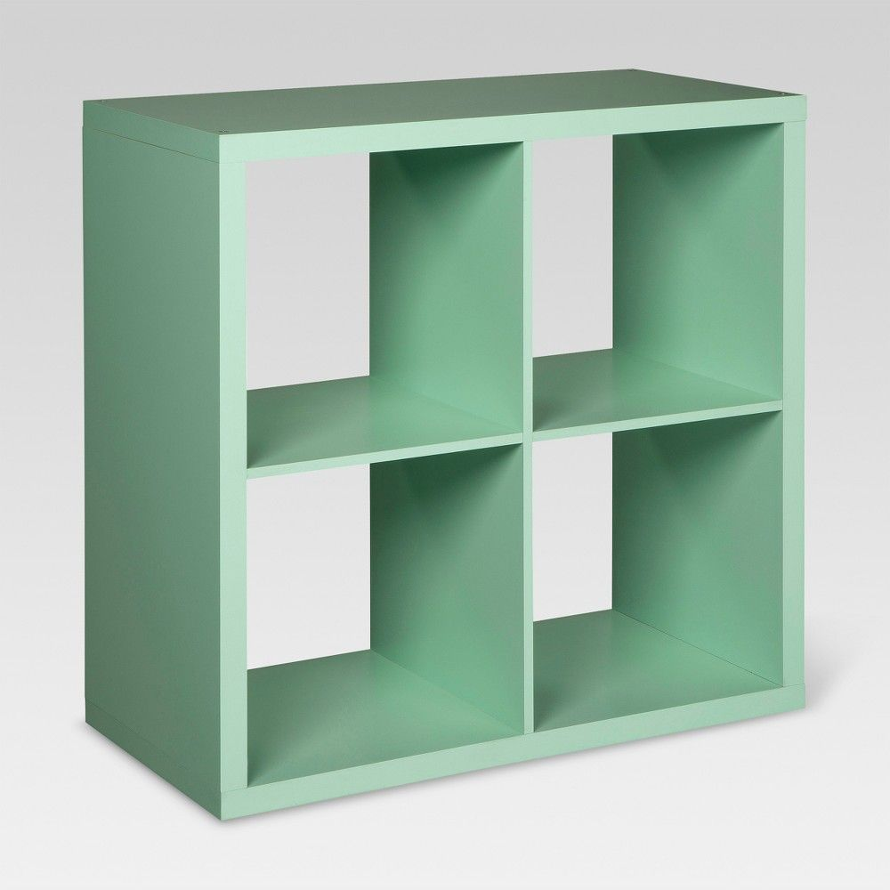 4 Cube Organizer Shelf 13 Mint Green Threshold Shelf Organization Cube Organizer