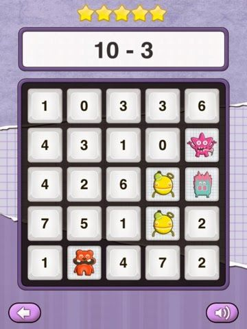 Fantastic and Free App Math Monster Bingo Math apps