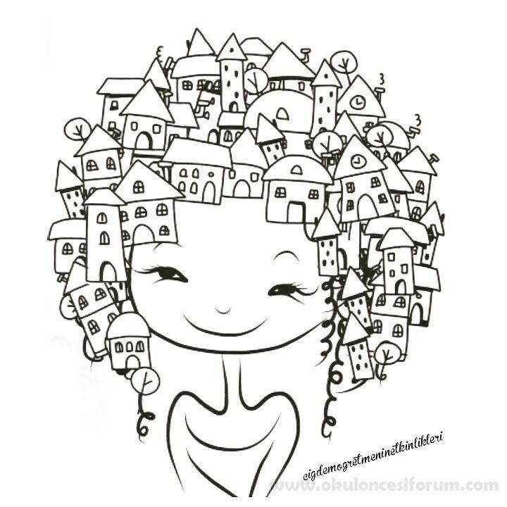 Dünya Kız çocukları Günü Craft Ideas Art Preschool Art Doodle Art