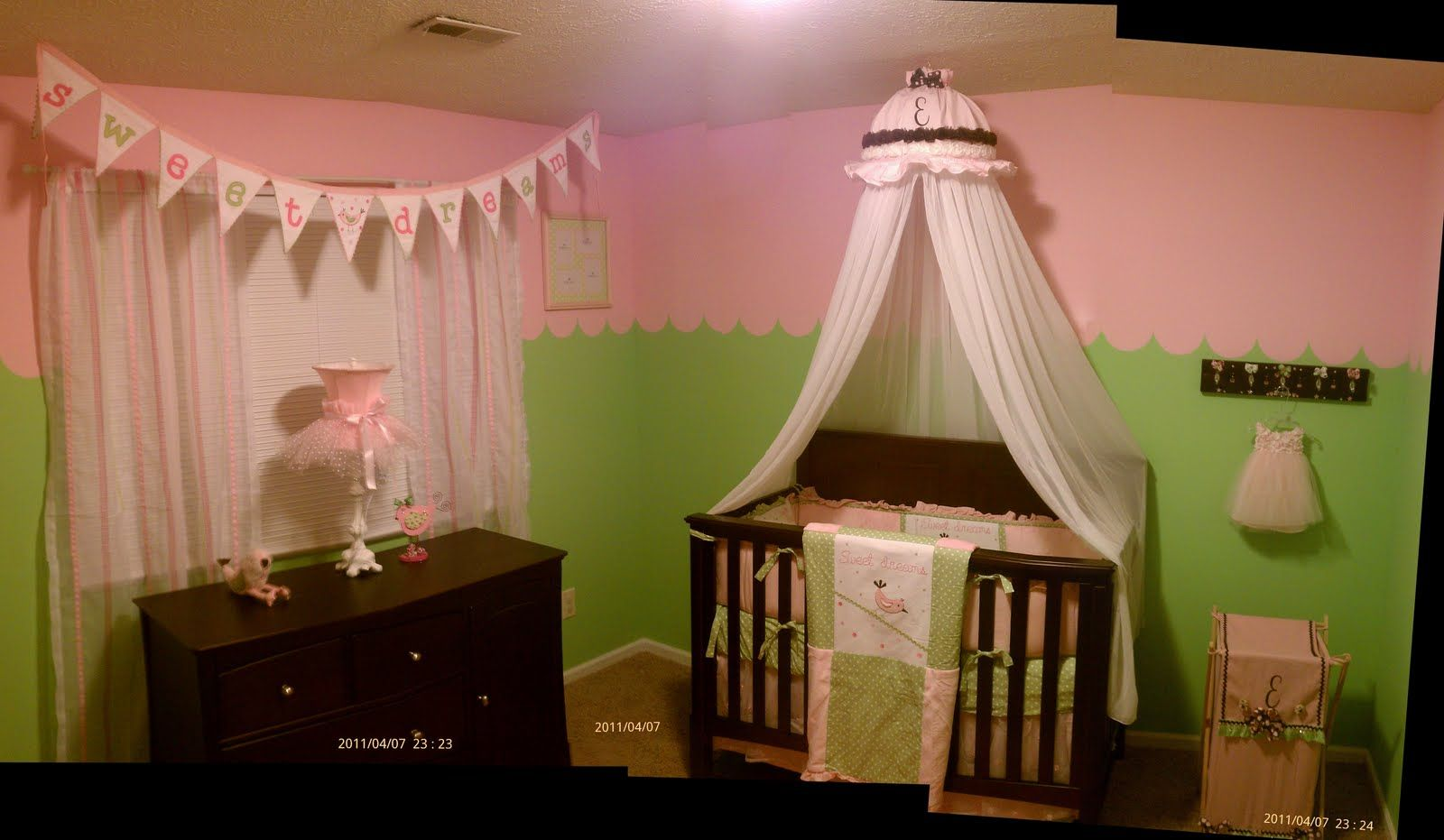 My sweet baby, pink and green room for a sweet baby girl ...