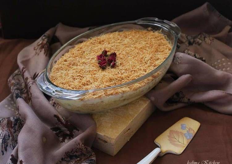 حلى الشعيرية بالكنافة الشيف حليمة الشيخة Food Breakfast Oatmeal