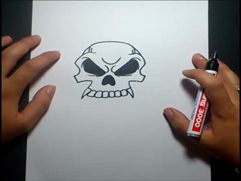 Como Dibujar Una Calavera Paso A Paso 10 How To Draw A Skull 10 Youtube Como Dibujar Una Calavera Tutorial De Dibujo Calaveras Faciles