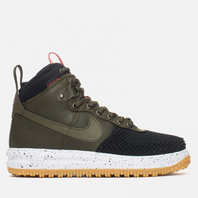 Мужские зимние кроссовки Nike Lunar Force 1 Duckboot Gum Light Brown Dark  Loden фото- 58d5c1e1644