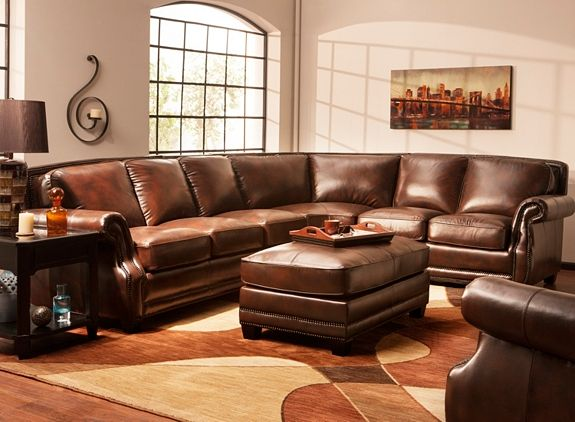 Romano 4 Pc Leather Sectional Sofa Sofas Raymour And Flanigan