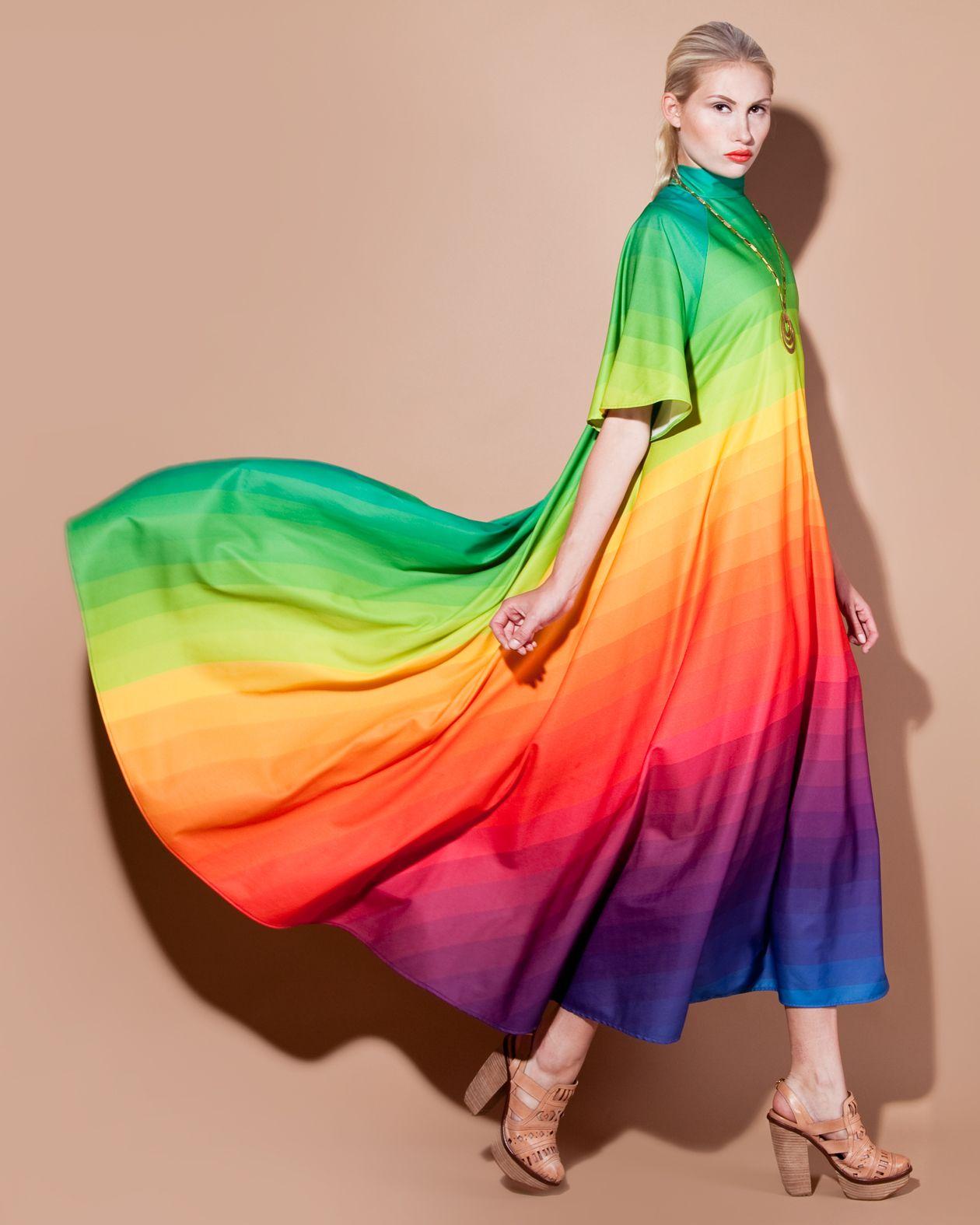 Rainbow Dress Rainbow Outfit Rainbow Dress Rainbow Fashion