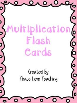 multiplication flash cards education math task cards multiplication fun math. Black Bedroom Furniture Sets. Home Design Ideas