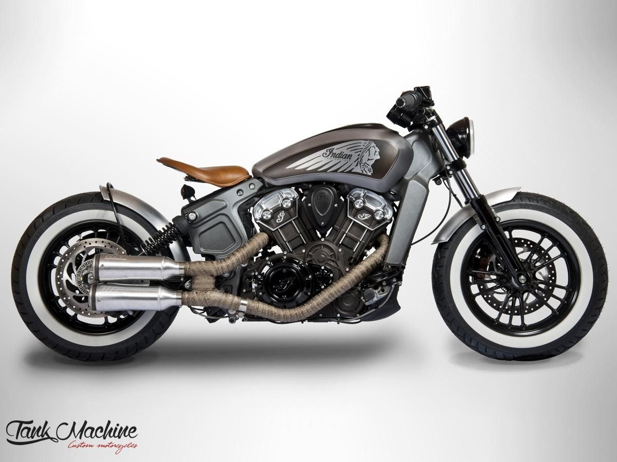 Indian Scout Bobber By Tank Machine Review Indian Scout Indian Motorcycle Indian Motorcycle Scout [ 900 x 1200 Pixel ]