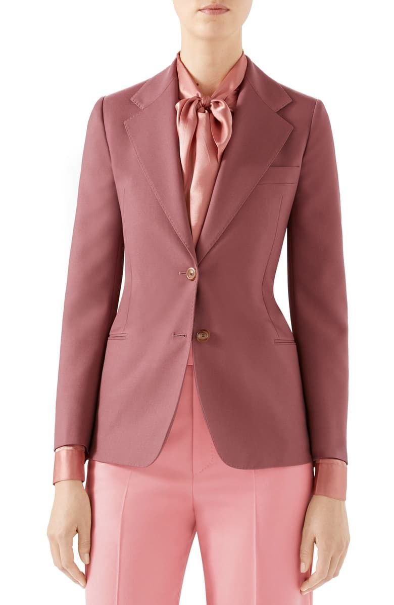 42e7af74b Free shipping and returns on Gucci Two-Button Wool Jacket at Nordstrom.com.