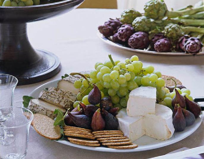 beautiful cheese platter by Ina Garten & TEMPEROS E SUCULENTAS | Cheese platters Ina garten and Garten