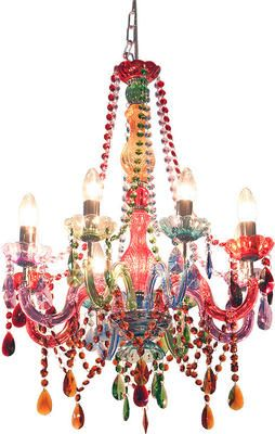 Circus Multi Coloured 8 Arm Chandelier From Alexander And Pearl