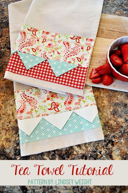 How To Make Your Own Kitchen Towels With Images Diy Sewing