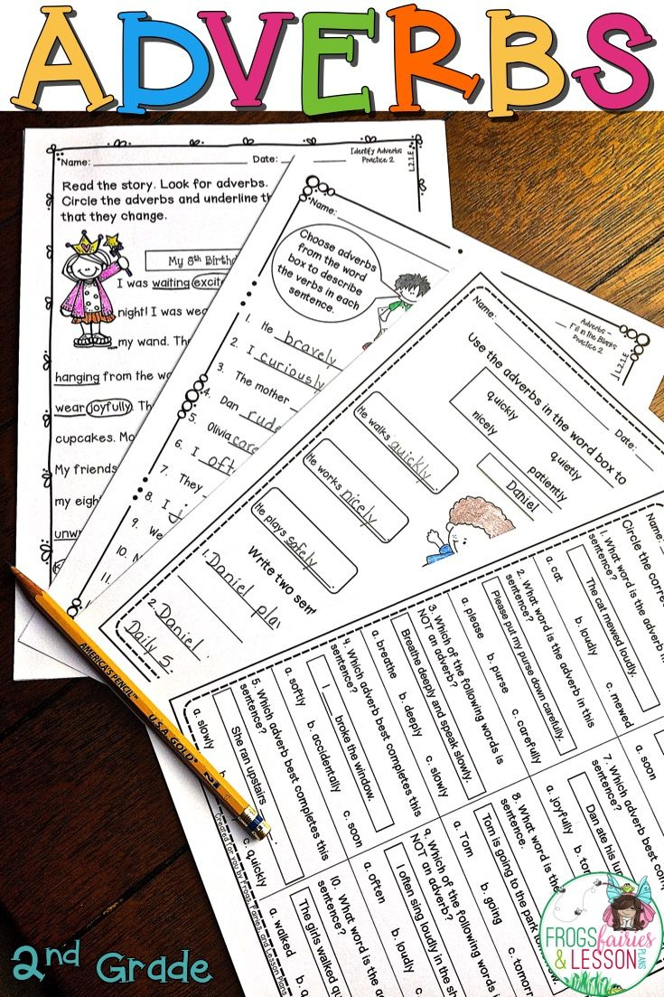 medium resolution of This product consists of practice worksheets that target the Common Core  standards for Adjectives and Adverbs in 2nd Gra…   Adverbs