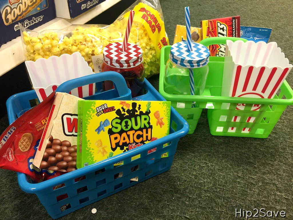 If You Re Looking To Do Some Spring Cleaning And Organizing Check Out These Awesome Dollar Tree Items Dollar Tree Gifts Kids Gift Baskets Movie Night Basket