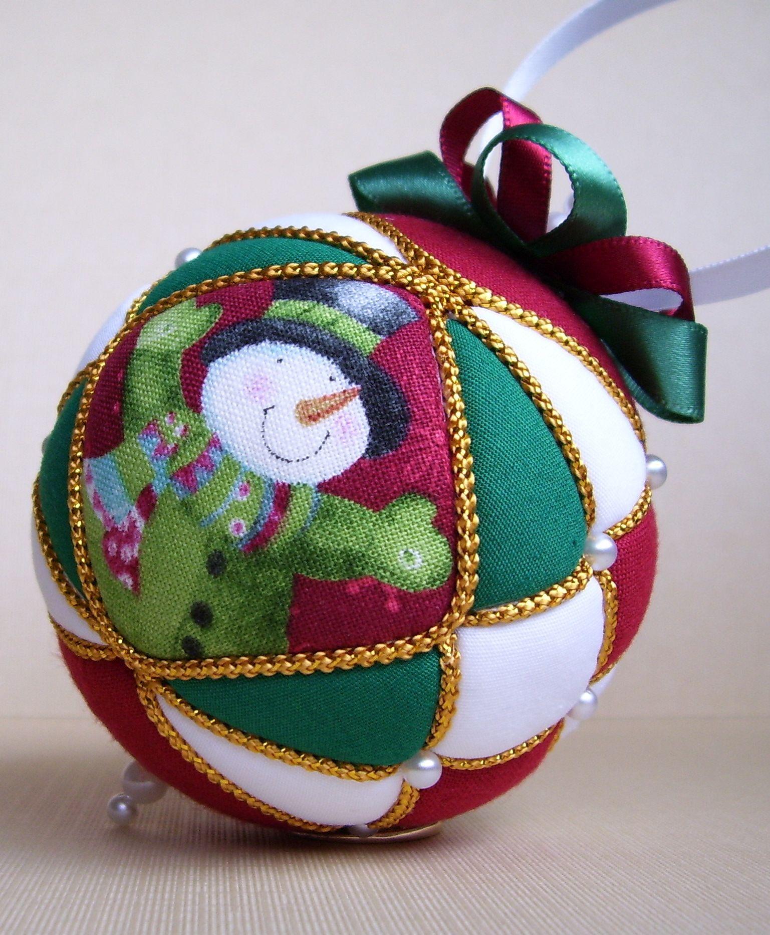 Snowman, 2012 | Fabric christmas ornaments, Christmas ...