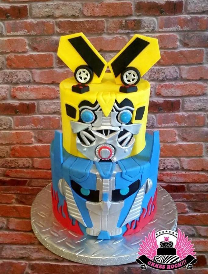 Miraculous Transformers Bumblebee Optimus Prime Cake Cake By Cakes Rock Funny Birthday Cards Online Ioscodamsfinfo