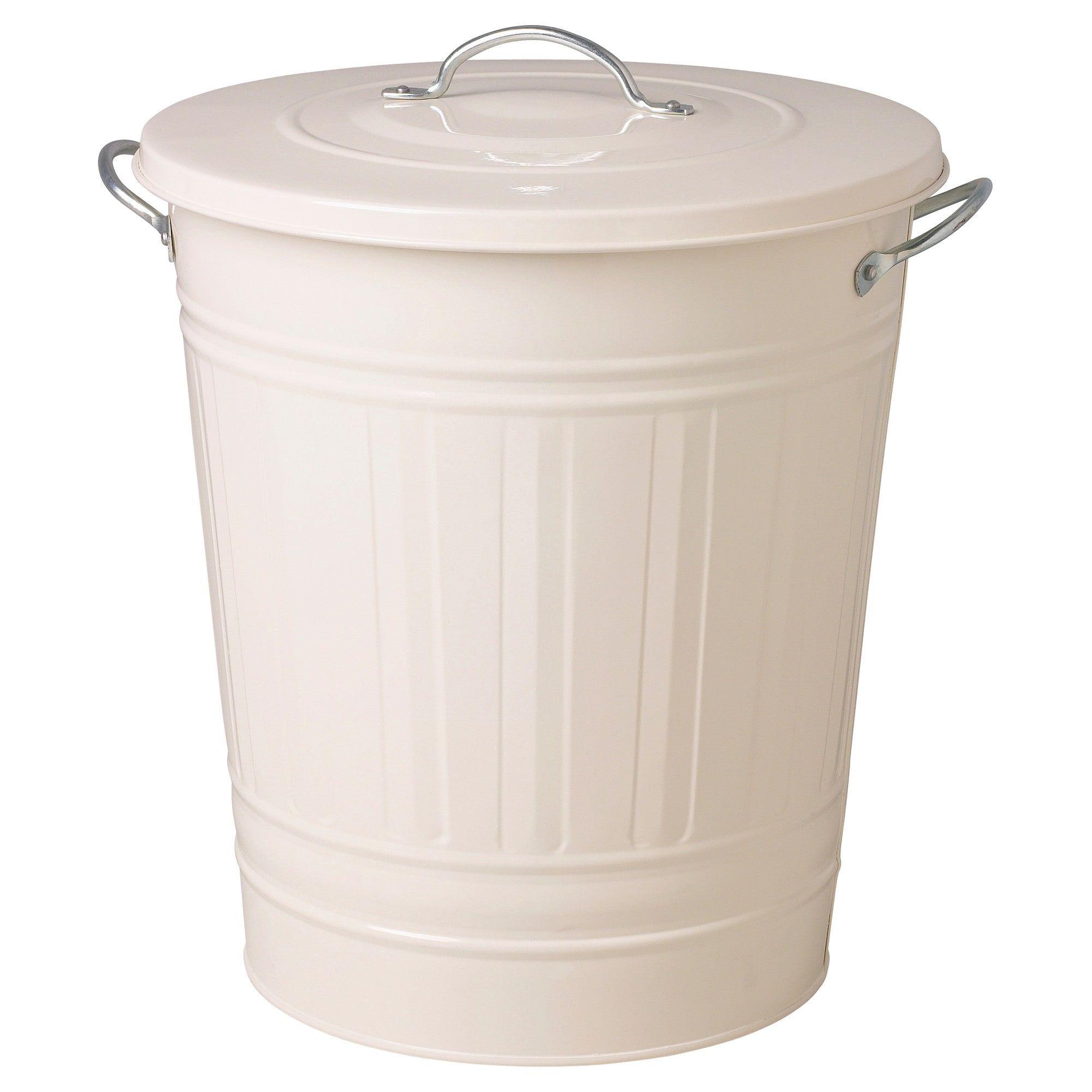 Best Ikea Knodd Bin With Lid White Modern Kitchen Trash 400 x 300