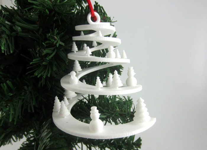 3dpi S 2013 Gallery Of 3d Printed Christmas Ornaments 3d Printing Industry Remesla 3d Pechat Bumazhnoe Remeslo
