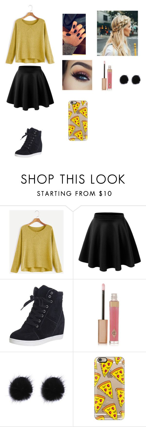 """Yellow"" by ciana-si on Polyvore featuring moda, LE3NO, Charlotte Tilbury e Casetify"