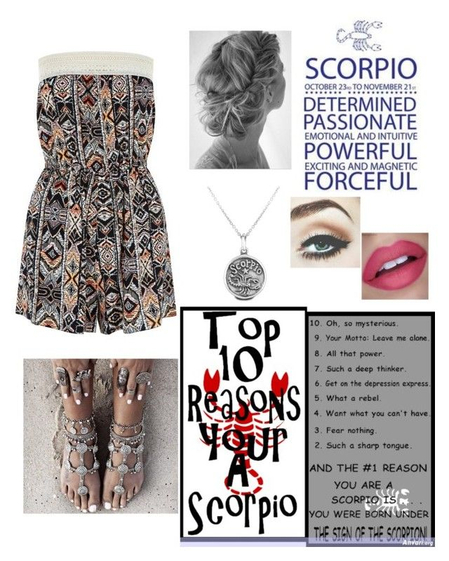 """Zodiac : Scorpio"" by xshelbyx ❤ liked on Polyvore featuring Bling Jewelry"