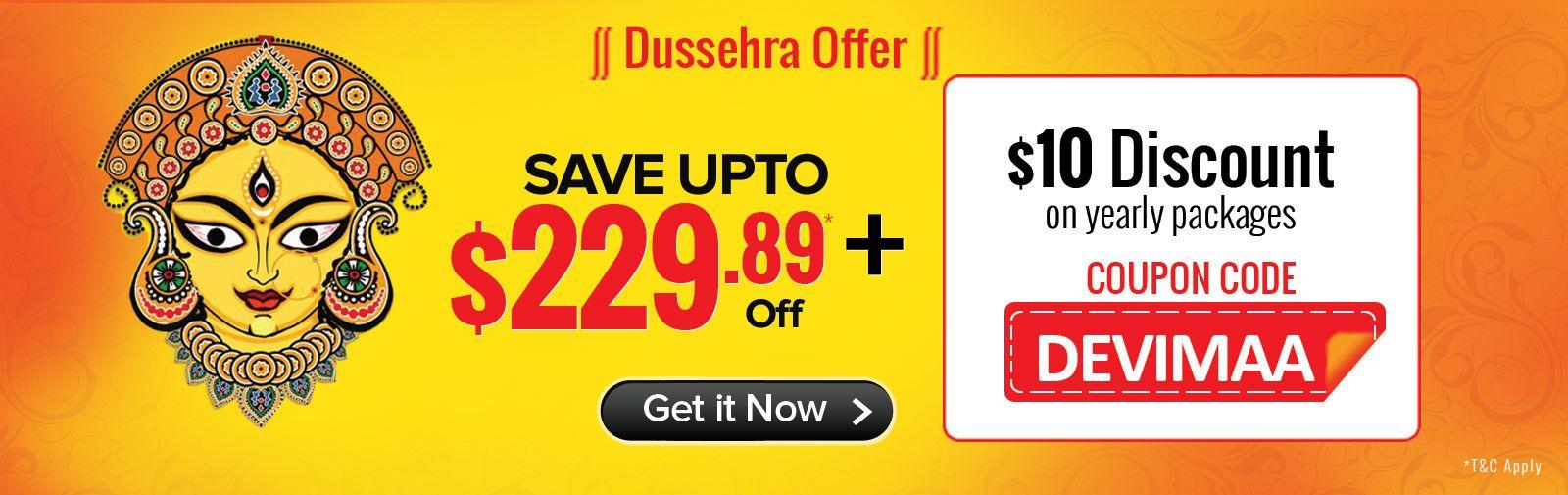 Dussehra Offer at Yupp TV Use