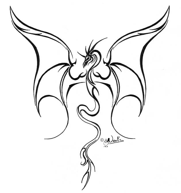 Dragon Tattoo Drawings Lined Dragon Tattoo 2 By Noot On Deviantart Dragon Tattoo Stencil Dragon Tattoo Designs Dragon Tattoo Drawing
