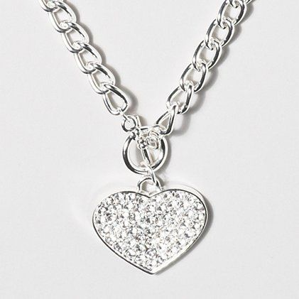 Crystal Heart Necklace | Claire's